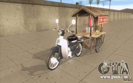 Honda Super Cub mit einem Wagen für GTA San Andreas