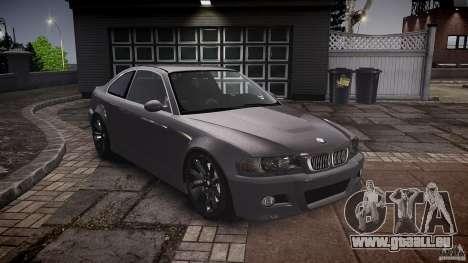 BMW 3 Series E46 v1.1 für GTA 4 Rückansicht