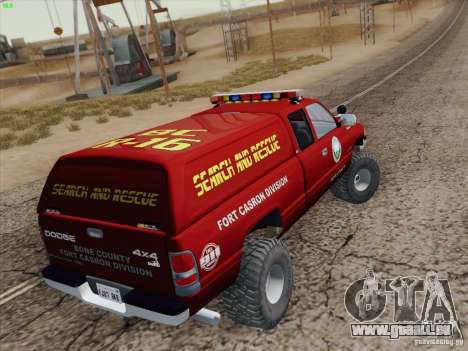 Dodge Ram 3500 Search & Rescue pour GTA San Andreas moteur