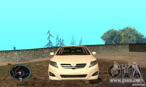 Toyota Corolla pour GTA San Andreas vue de droite
