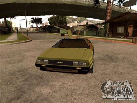 Golden DeLorean DMC-12 pour GTA San Andreas