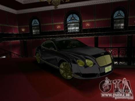 Bentley Continental GT für GTA Vice City rechten Ansicht