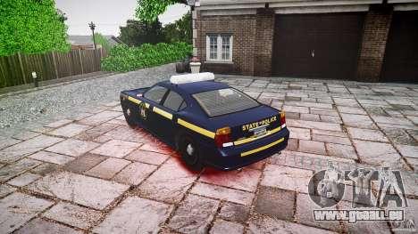 New York State Police Buffalo für GTA 4 hinten links Ansicht