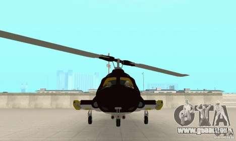 Airwolf für GTA San Andreas Rückansicht