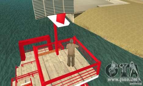 Vice City Ferryboat pour GTA San Andreas vue arrière