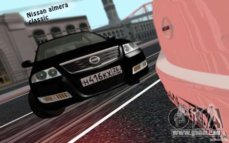 Nissan Almera Classic pour GTA San Andreas sur la vue arrière gauche
