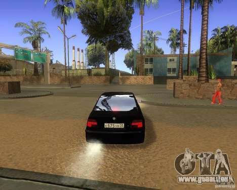 BMW 525i e39 pour GTA San Andreas vue arrière