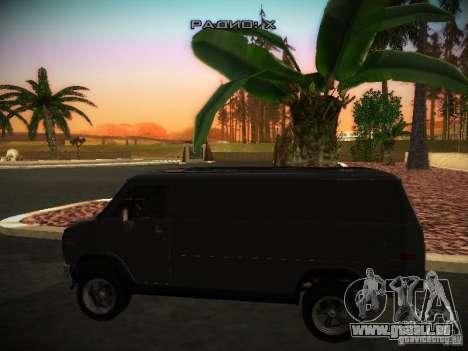 GMC Vandura pour GTA San Andreas sur la vue arrière gauche