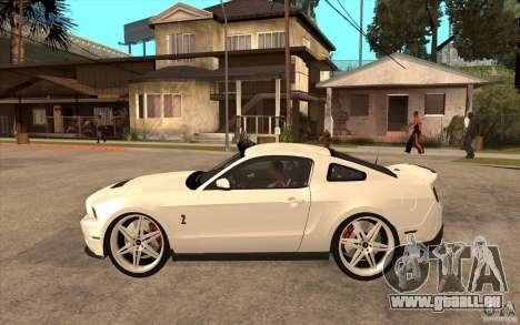 Ford Shelby GT500 pour GTA San Andreas laissé vue