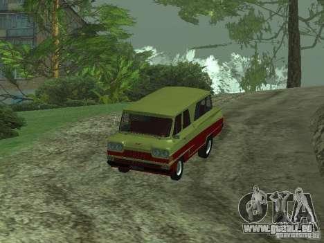 Véhicule Start v1.1 pour GTA San Andreas sur la vue arrière gauche