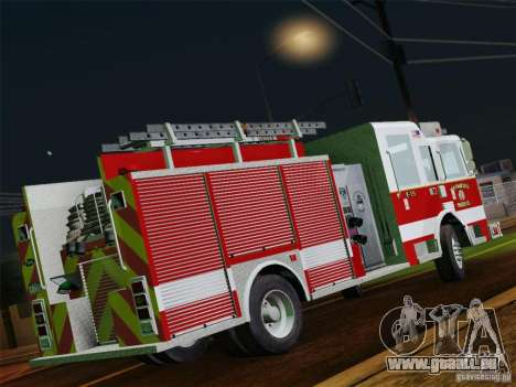 Pierce Pumpers. San Francisco Fire Departament für GTA San Andreas obere Ansicht