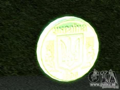 1 hryvnia pour GTA San Andreas deuxième écran