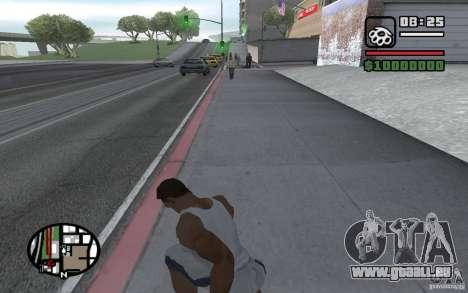 Lancer de couteaux pour GTA San Andreas quatrième écran