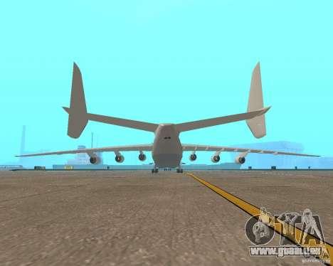 L'an-225 Mriya pour GTA San Andreas sur la vue arrière gauche