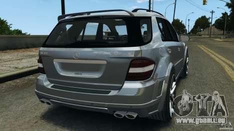 Mercedes-Benz ML63 AMG Brabus pour GTA 4 Vue arrière de la gauche