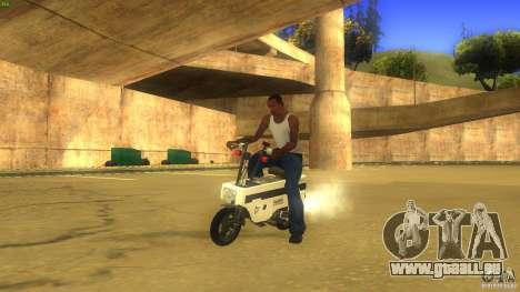 Honda Motocompo pour GTA San Andreas sur la vue arrière gauche
