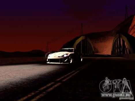 Nissan 350Z Avon Tires pour GTA San Andreas vue arrière