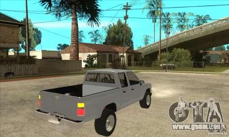 Toyota Hilux CD pour GTA San Andreas vue de droite