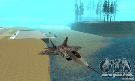 YF-22 Starscream für GTA San Andreas Innenansicht