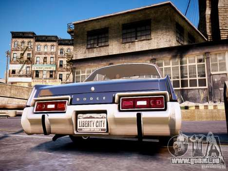 Dodge Monaco 1974 pour GTA 4 est une vue de l'intérieur