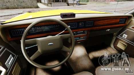 Ford LTD Crown Victoria 1987 L.C.C. Taxi pour GTA 4 Vue arrière