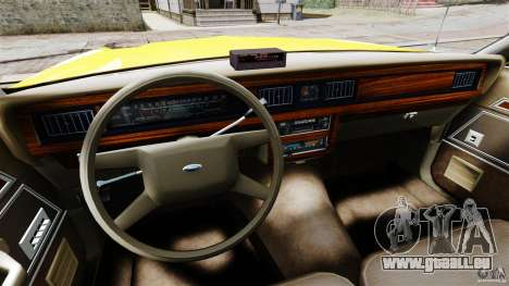 Ford LTD Crown Victoria 1987 L.C.C. Taxi für GTA 4 Rückansicht