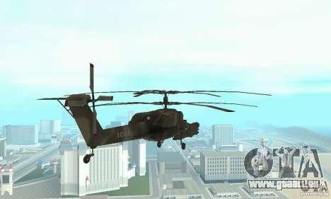 Mi-28 pour GTA San Andreas vue arrière