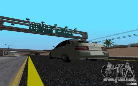 VAZ 2110 léger Tuning pour GTA San Andreas laissé vue