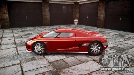 Koenigsegg CCX v1.1 pour GTA 4 Vue arrière