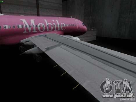 Airbus A319 Spirit of T-Mobile pour GTA San Andreas vue intérieure