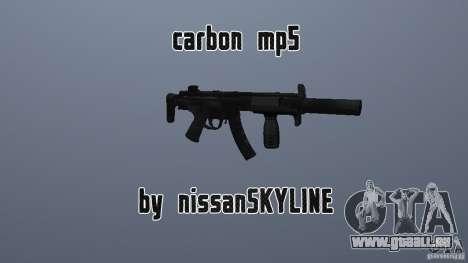 Carbone MP5 avec un silencieux pour GTA San Andreas