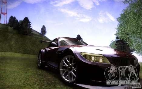 BMW Z4 E89 GT3 2010 pour GTA San Andreas vue de droite