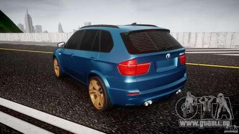 BMW X5 M-Power wheels V-spoke pour GTA 4 Vue arrière de la gauche