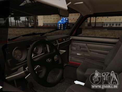 VAZ 21054 für GTA San Andreas obere Ansicht