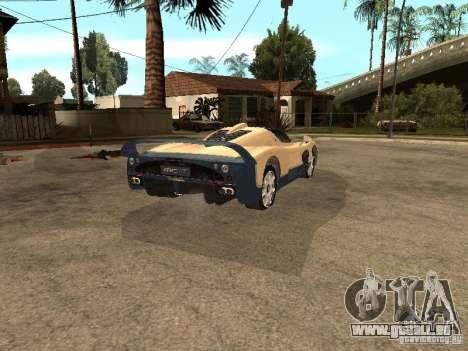 Maserati MC12 pour GTA San Andreas sur la vue arrière gauche