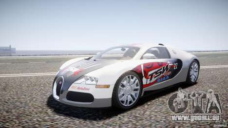 Bugatti Veyron 16.4 v1 für GTA 4 Rückansicht