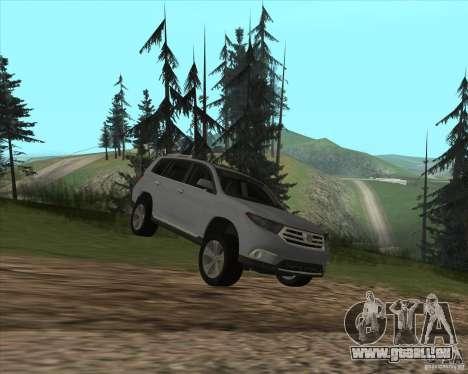Toyota Highlander pour GTA San Andreas vue intérieure