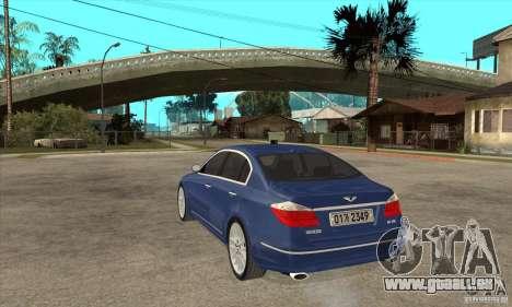 Hyundai Genesis für GTA San Andreas linke Ansicht