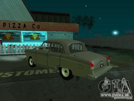 Volga gaz 21 pour GTA San Andreas sur la vue arrière gauche