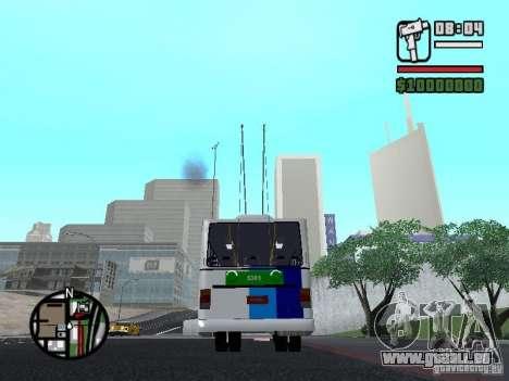 Cobrasma Monobloco Patrol II Trolerbus für GTA San Andreas zurück linke Ansicht