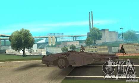 Faucon Millenium ! pour GTA San Andreas sur la vue arrière gauche