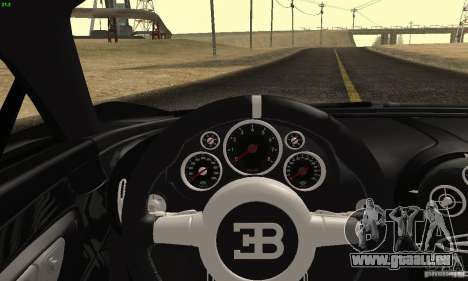 Bugatti Veyron SuperSport für GTA San Andreas Rückansicht
