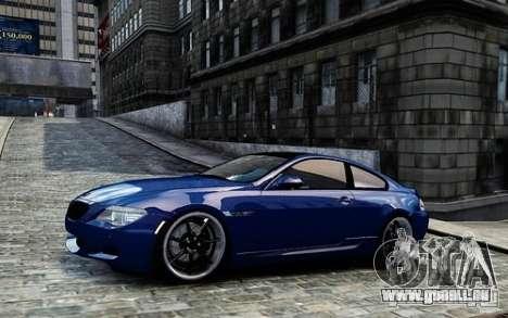 BMW M6 Coupe E63 2010 pour GTA 4 est une gauche