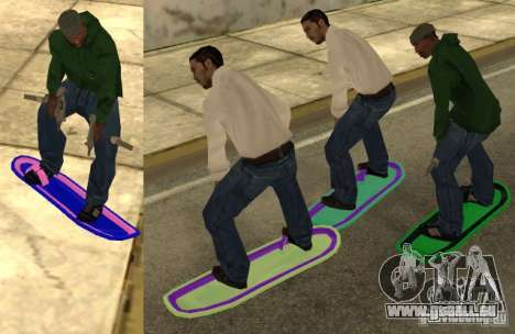 Hoverboard bttf pour GTA San Andreas