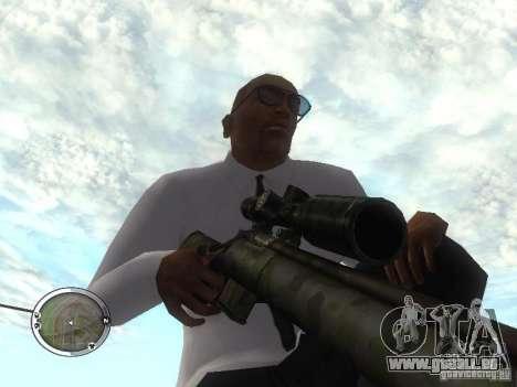 Sniper - Forest Camouflage pour GTA San Andreas troisième écran