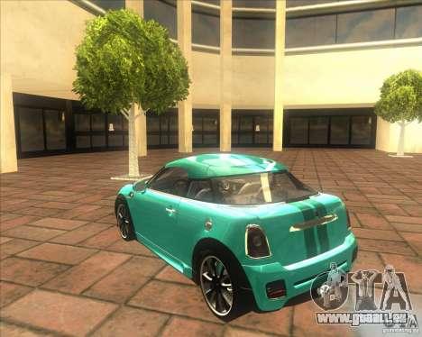 Mini Coupe 2011 Concept für GTA San Andreas rechten Ansicht