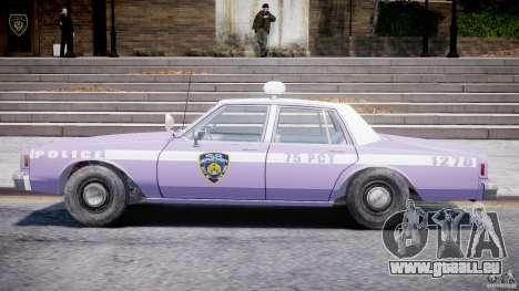 Chevrolet Impala Police 1983 v2.0 pour GTA 4 Vue arrière de la gauche