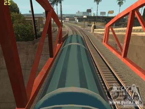 Wagons de marchandises des surfeurs métro pour GTA San Andreas sur la vue arrière gauche