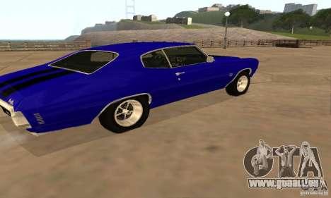 Chevrolet Chevelle SS 1970 für GTA San Andreas Rückansicht