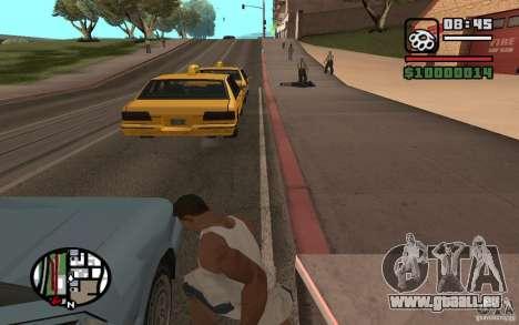 Lancer de couteaux pour GTA San Andreas troisième écran